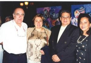 No centro a deputada Dolors Montserrat I Culleré (tendo seu marido à esquerda da foto) e o professor Tomislav R. Femenick (com sua esposa, professora Maria Goreth Femenick, à direita).